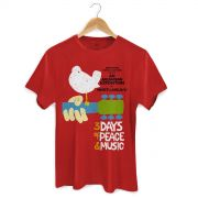 Camiseta Masculina Woodstock Poster