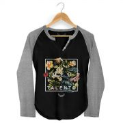 Camiseta Raglan Feminina Anitta No Meu Talento Flowers