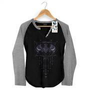 Camiseta Raglan Feminina Batgirl Fashion