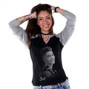 Camiseta Raglan Feminina Biel Foto P&B