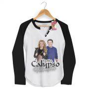 Camiseta Raglan Feminina Calypso Vibra��es Capa