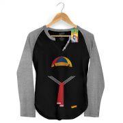 Camiseta Raglan Feminina Chaves Roupa do Quico