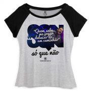 Camiseta Raglan Feminina Harmonia do Samba Debaixo de um Caminhão