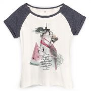 Camiseta Raglan Feminina Ivete Sangalo Iluminando a Minha Vida
