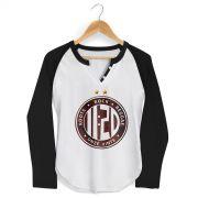 Camiseta Raglan Feminina Onze:20 Logo Star