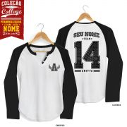 Camiseta Raglan Feminina Personalizada Anitta College Team