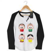 Camiseta Raglan Feminina Turma da M�nica A Turma Toy