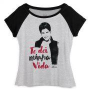 Camiseta Raglan Feminina Z� Felipe Te Dei Minha Vida