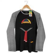 Camiseta Raglan Masculina Chaves Roupa do Quico