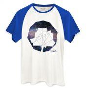Camiseta Raglan Masculina Fresno Logo Gal�xias