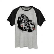 Camiseta Raglan Masculina Kiss Dressed To Kill