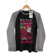 Camiseta Raglan Masculina The Flash Scarlet Speedster