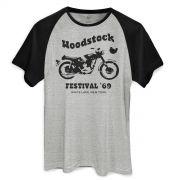 Camiseta Raglan Masculina Woodstock Festival ´69