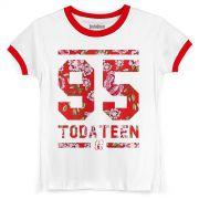 Camiseta Ringer Feminina TodaTeen 95
