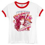 Camiseta Ringer Feminina Wonder Woman Equality