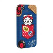 Capa para iPhone 4/4S Hello Kitty Retro Denim