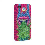Capa para iPhone 4/4S Monstra Maçã Puke