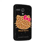 Capa para Motorola Moto G 1 Hello Kitty Print Fuzzy