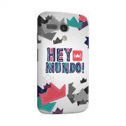 Capa para Motorola Moto G 1 Thiaguinho Hey Mundo! Logo