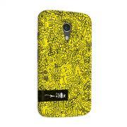 Capa para Motorola Moto G 2 Fino Farofa de Religi�o Yellow