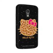 Capa para Motorola Moto G 2 Hello Kitty Print Fuzzy