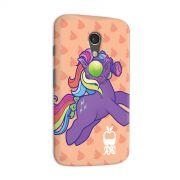 Capa para Motorola Moto G 2 Monstra Maçã My Little Monster