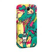 Capa para Samsung Galaxy S4 Monstra Maçã Crazy Dog