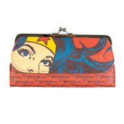 Carteira Feminina Wonder Woman Power Vermelha