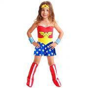 Fantasia Infantil Wonder Woman Standard