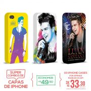 Kit Com 3 Capas de iPhone 4/4S Luan Santana O Nosso Tempo é Hoje