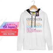 Moletom Com Capuz Preto Luan Santana Cê Topa? 2