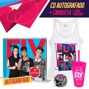 Combo Banda Fly CD Cabelos de Algodão AUTOGRAFADO + Regata Feminina