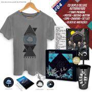 Combo Premium CD Duplo Deluxe Fresno 15 Anos ao Vivo AUTOGRAFADO + T-Shirt Premium