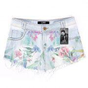 Shorts Jeans Luan Santana Flowers