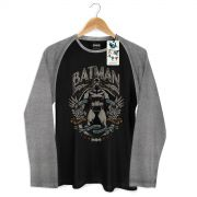 Camiseta Raglan Masculina Batman Dark Knight