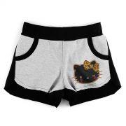 Shorts de Moletom Hello Kitty Print Fuzzy