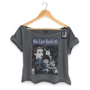 T-shirt Premium Feminina 89FM We Can Rock It!
