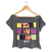 T-shirt Premium Feminina Anitta Faces