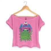 T-shirt Premium Feminina Monstra Ma�� Puke