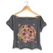 T-shirt Premium Feminina Woodstock Flowers Peace