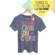 T-shirt Premium Masculina Calypso 15 Anos Com Calypso