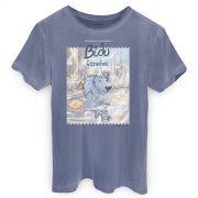 T-shirt Premium Masculina Turma da M�nica Bidu Caminhos