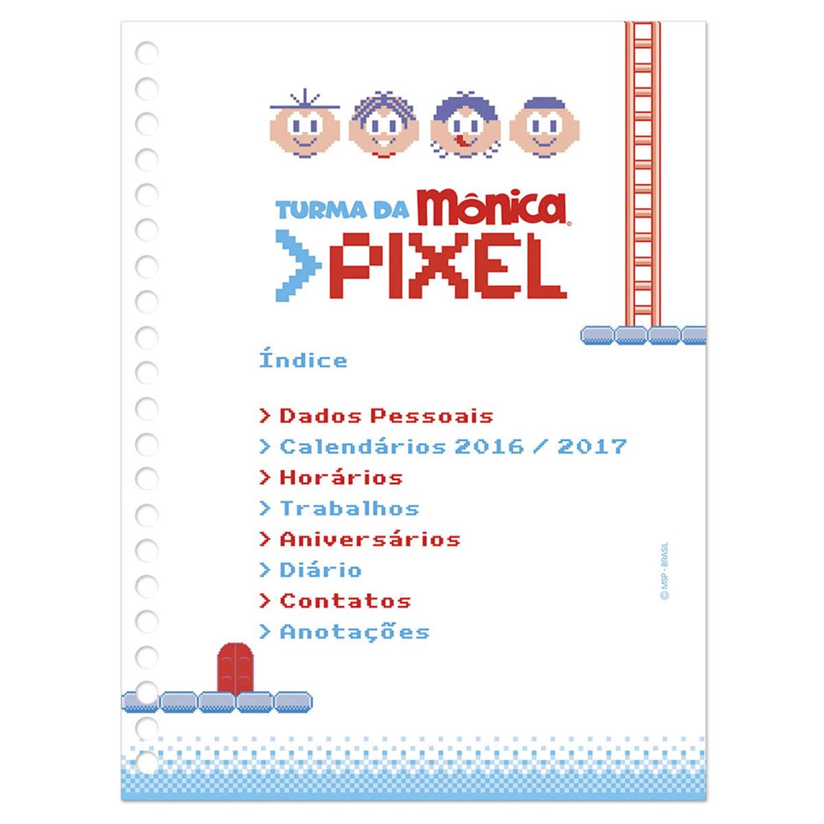 Agenda Di�ria 2016 Turma da M�nica Pixel Cebolinha