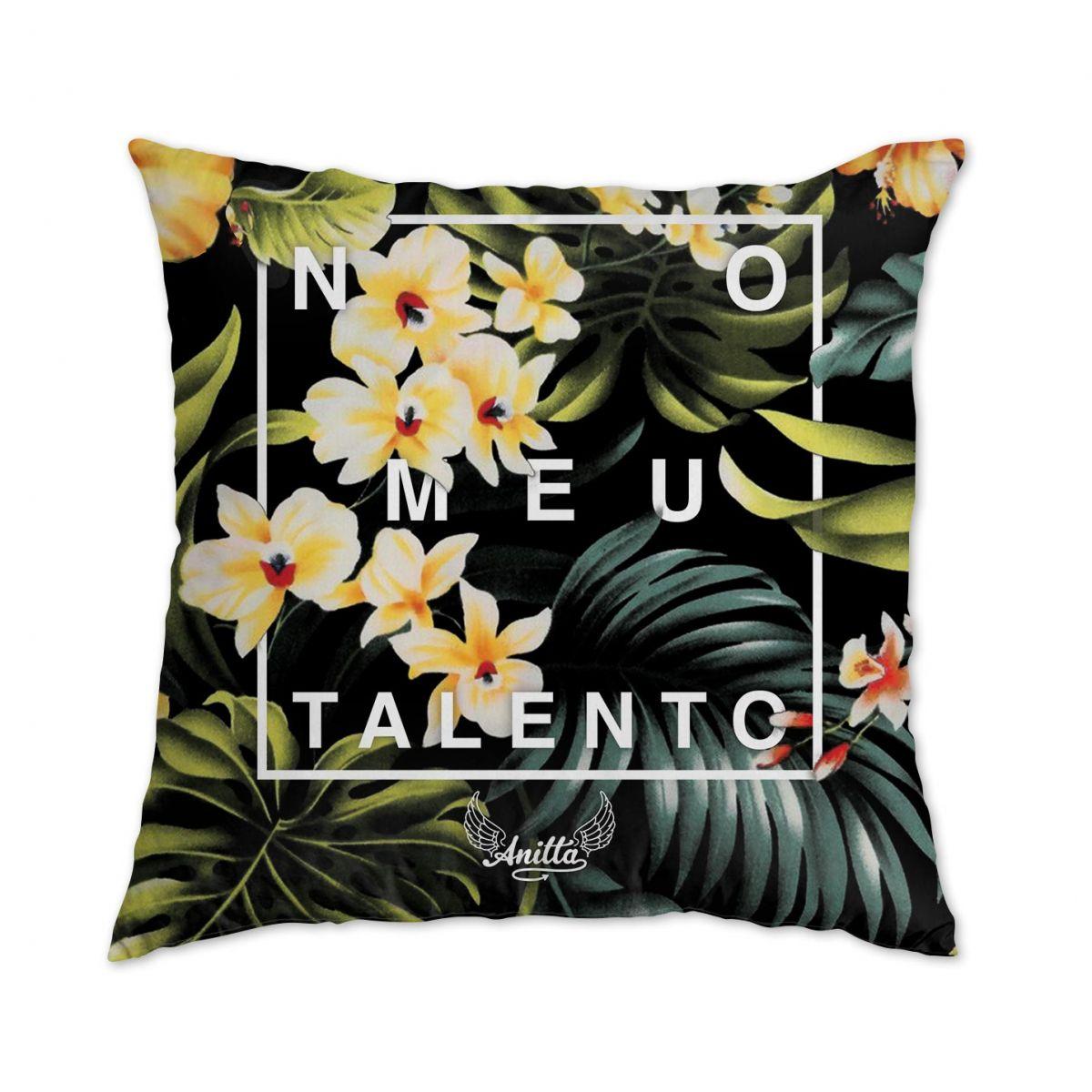 Almofada Anitta No Meu Talento Flowers