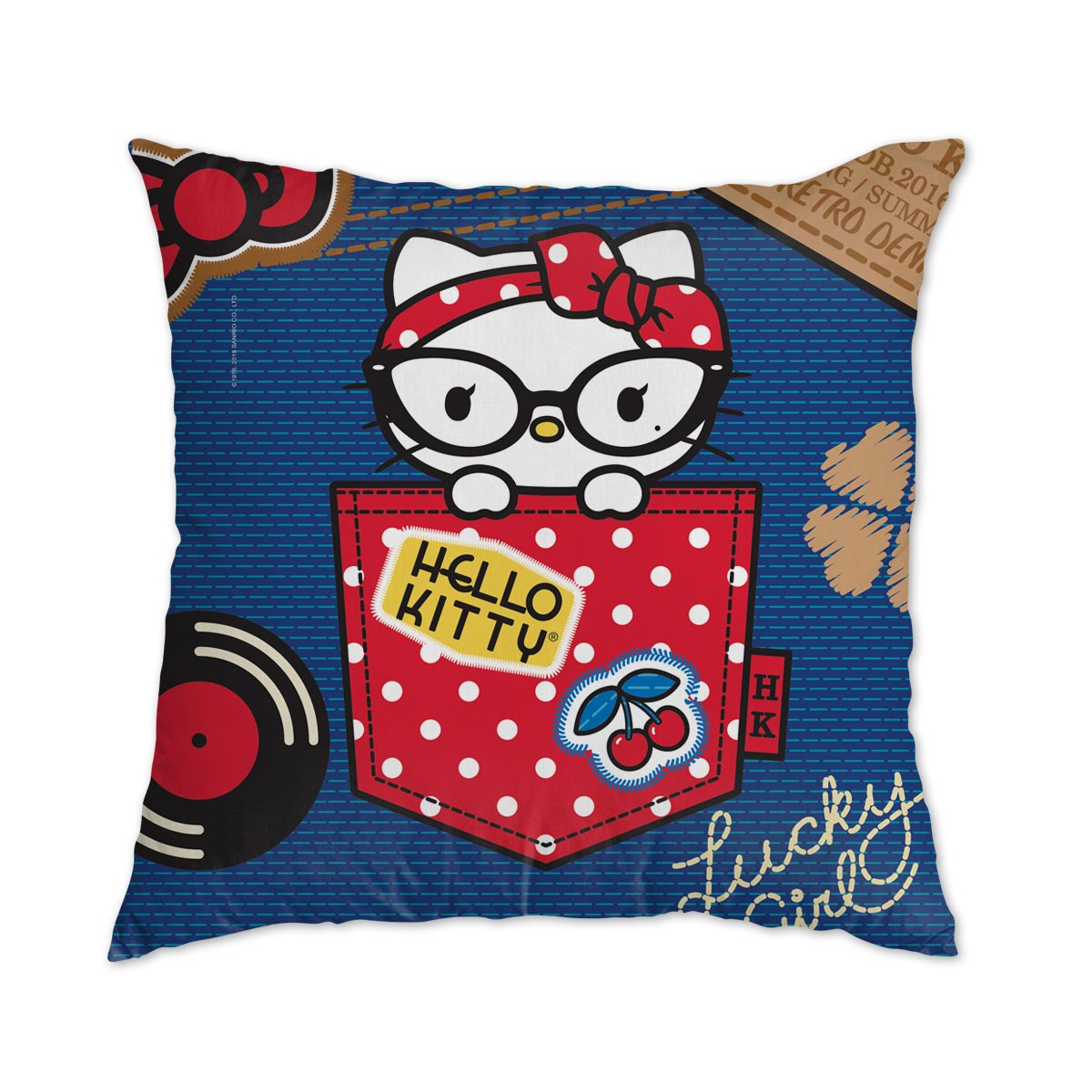 Almofada Hello Kitty Retro Denim
