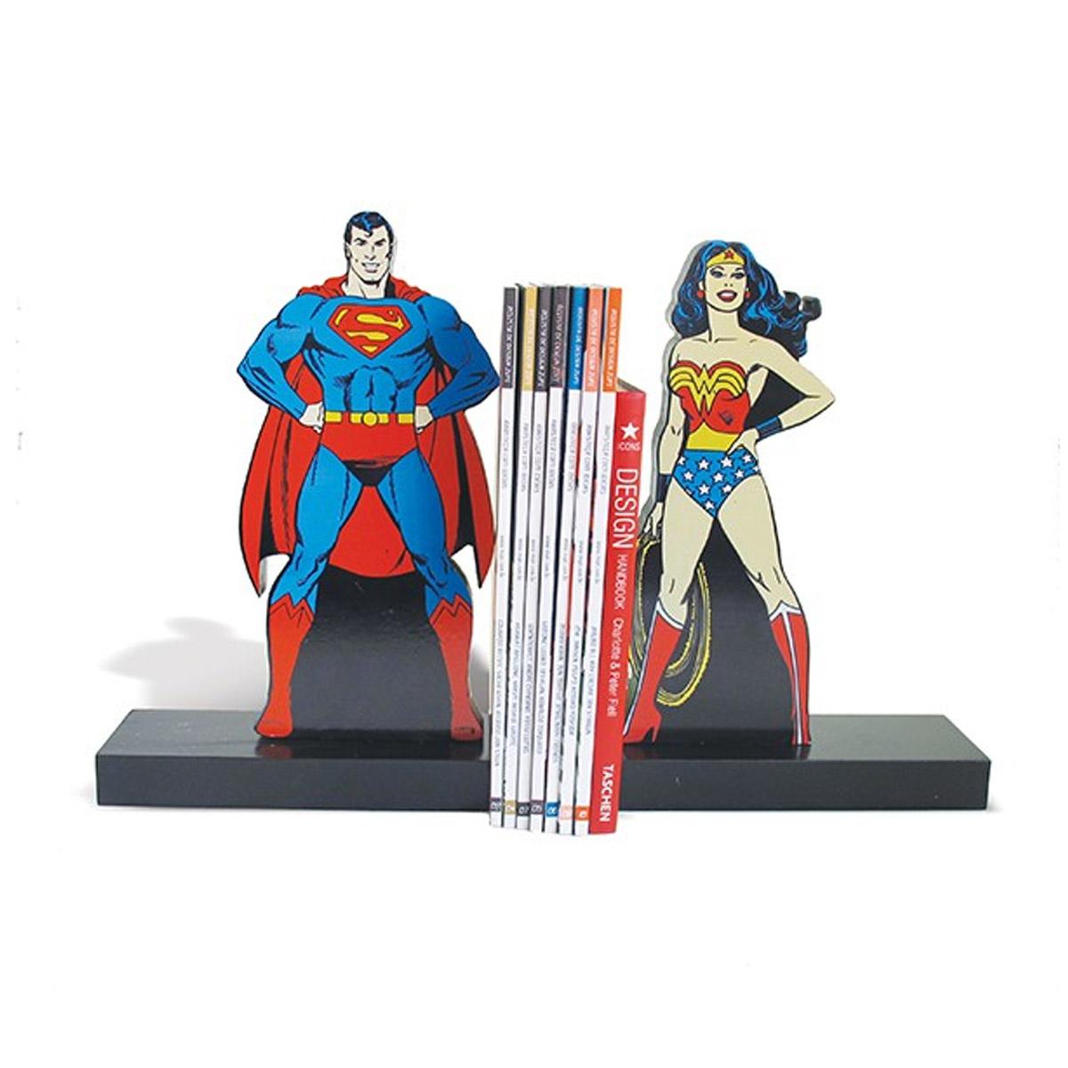 Aparador de Livro Superman e Wonder Woman