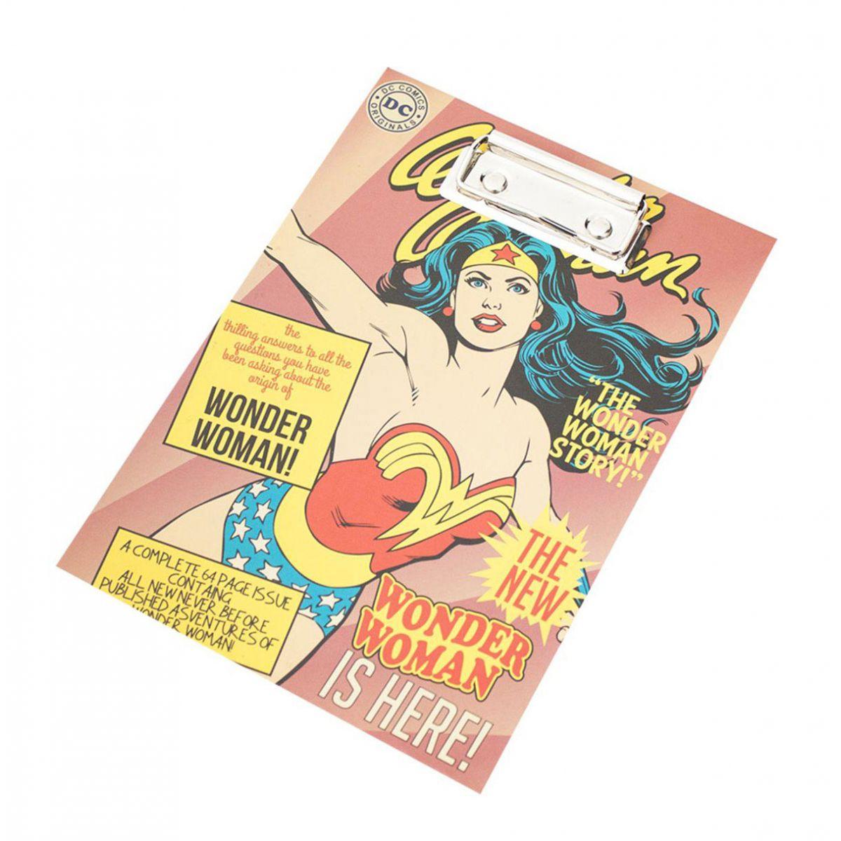 Bloco de anotação com prancheta Wonder Woman