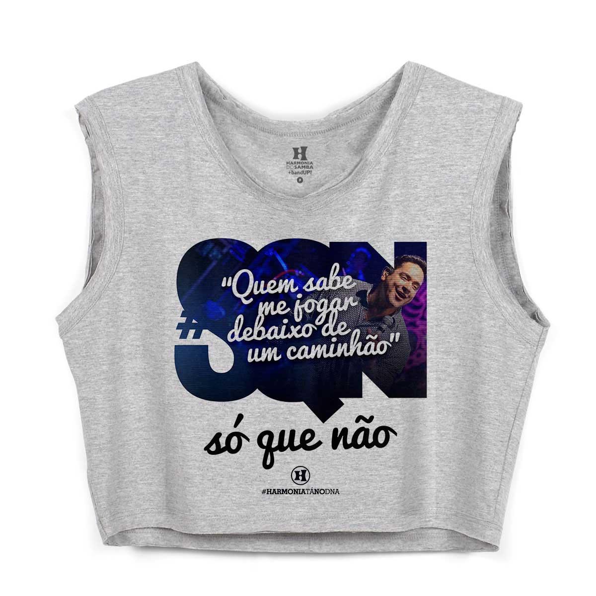 Blusa Cropped Feminina Harmonia do Samba Debaixo de um Caminhão