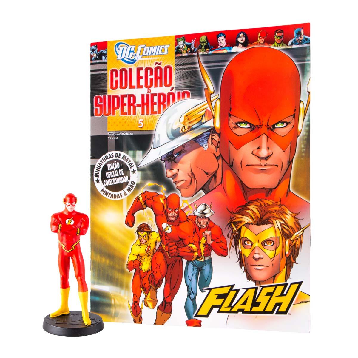 Boneco Miniatura The Flash + Revista