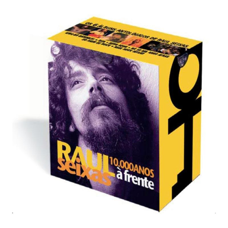 Box com 6 CDs Raul Seixas com 6 CDs 10.000 Anos � Frente